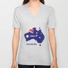 Happy Australia Day Unisex V-Neck
