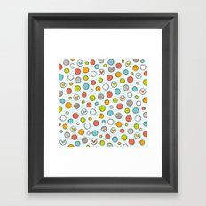 Another pattern with hearts. Framed Art Print