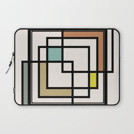 Mid Century Modern Squares Laptop Sleeve