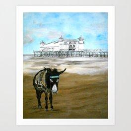 Seaside Donkey Art Print
