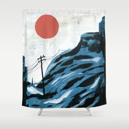Watching the Impending Sunset Shower Curtain