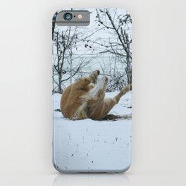 Snow Pony II iPhone Case