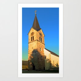 The village church of Schwarzenberg I | architectural photography Art Print