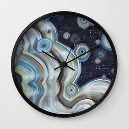 space agate Wall Clock