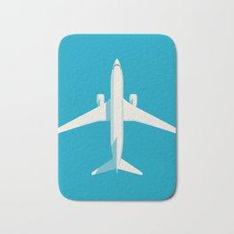 737 Passenger Jet Airliner Aircraft - Cyan Bath Mat