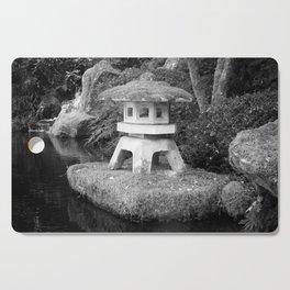 Stone lantern in Japanese Zen Garden Cutting Board