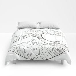 The wave of Kanagawa Comforters