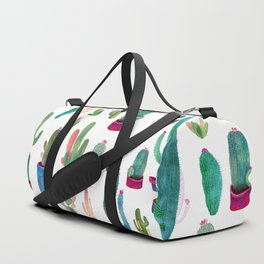 Watercolor Cactus Pattern Duffle Bag
