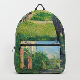 """Gustave Caillebotte """"The Uphill Path"""" Backpack"""