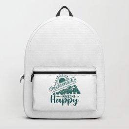 Adventure Makes Me Happy gr Backpack