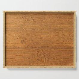 The Cabin Vintage Wood Grain Design Serving Tray
