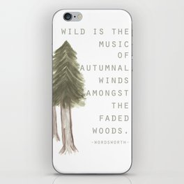 Wild is the Music iPhone Skin
