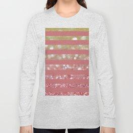 Champagne Tango Stripes Long Sleeve T-shirt