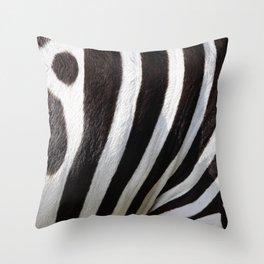 """Pop Safari 01 Zebra"" Throw Pillow"
