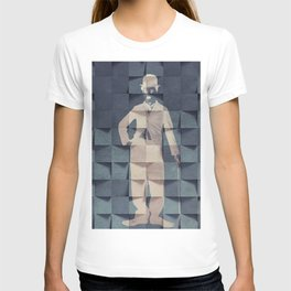 CHAPLIN'S BLUE PRINT #society6 T-shirt