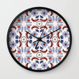 Floral tile pattern - Jane Wall Clock
