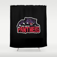 he man Shower Curtains featuring Snake mountain Panthers he man by Buby87