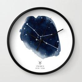 Zodiac Star Constellation - Taurus Wall Clock