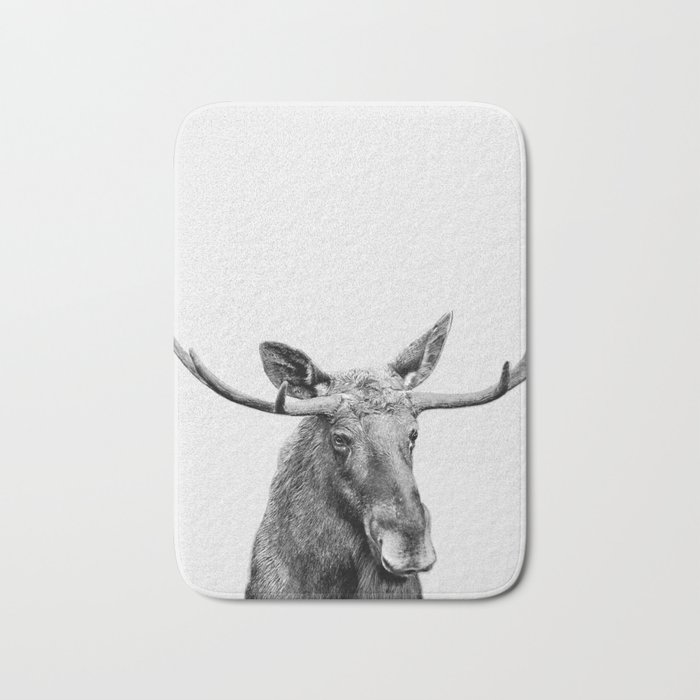 Moose print, Woodland nursery decor, nursery art, animal prints, Forest animals Bath Mat
