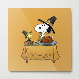 snoopy party halloween Metal Print