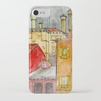 italian iPhone & iPod Cases featuring Italian Street by Bunny Noir