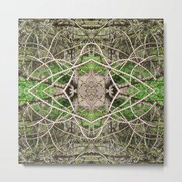 507 - Abstract Forest Design Metal Print