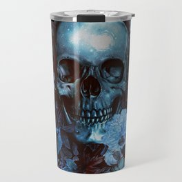 Skull and Flowers Travel Mug