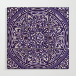 Great Purple Mandala Wood Wall Art