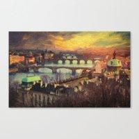 prague Canvas Prints featuring Prague by Taylan Soyturk