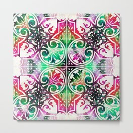 Bright Colorful Pattern Art - Color Fusion Design 10 By Sharon Cummings Metal Print