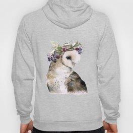 Flower Crowned Barn Owl Hoody