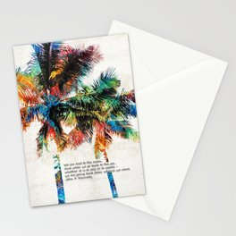 Colorful Palm Trees - Returning Home - By Sharon Cummings Stationery Cards