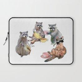Racoon Tea Party Laptop Sleeve