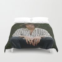 harry styles Duvet Covers featuring Harry Styles by behindthenoise