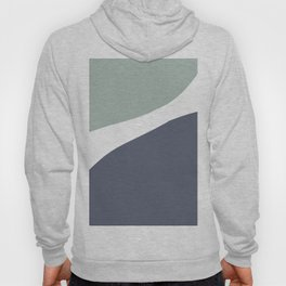 Abstract mid-century modern in blue and grey Hoody