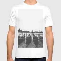 Venetian Gondolas Mens Fitted Tee White MEDIUM