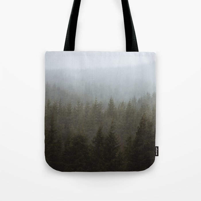 Snowy Forks Forest Tote Bag