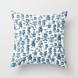 Robots pattern Throw Pillow