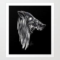 Pig Head Art Print