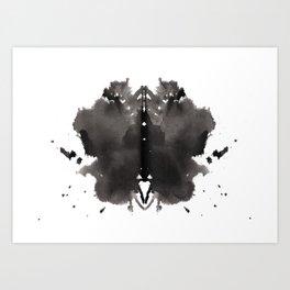 Rorschach test 2 Art Print