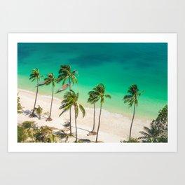 An Aerial view of a Scenic Beach in Thailand Art Print