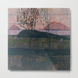 Egon Schiele - Setting Sun Metal Print
