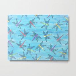 Sweet Dragonfly Skies Metal Print
