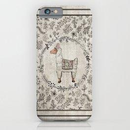 Lala Llama iPhone Case