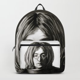 John in Black and White Backpack