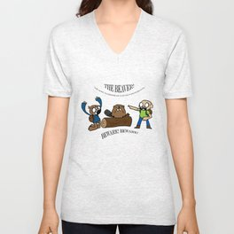 Beaver Safety Shirt! (by Steak n' Egg) Unisex V-Neck