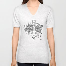 SEXY PSYCO LOOPING_Stab me baby one more time Unisex V-Neck