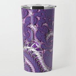 Purple Fractal Travel Mug