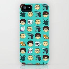 Skyfall chibi pattern 00Q iPhone Case