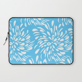 DAHLIA FLOWER RAIN DROPS TEAR DROPS SWIRLS PATTERN Laptop Sleeve